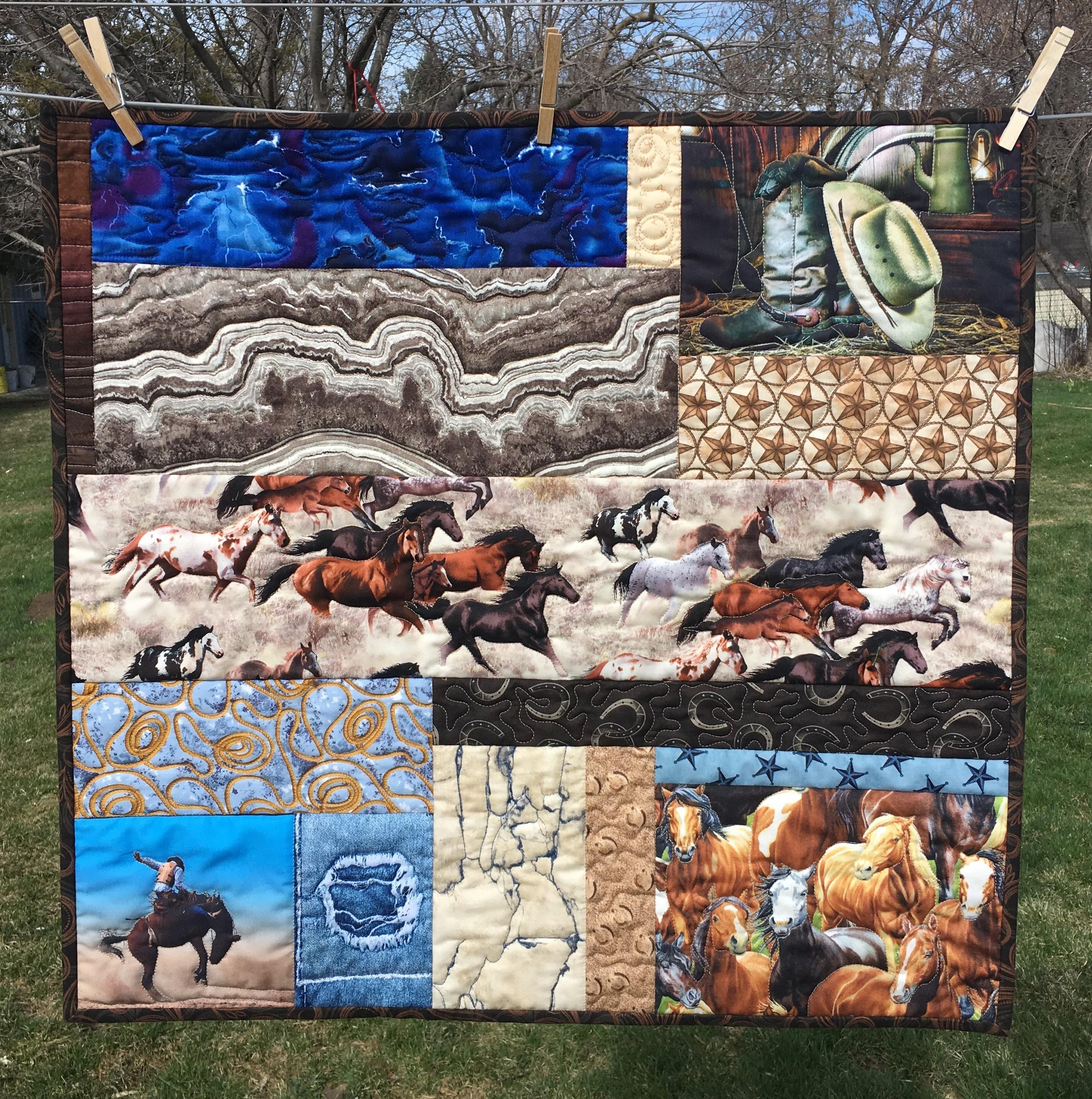 wild horses quilting